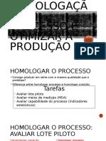 Homologação Do Processo e Otimizar a Produção