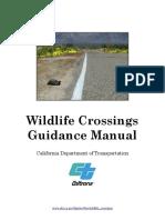 CA Wildlife Crossings Guidance Manual