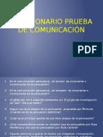 Cuestionario Prueba de Comunicación 2016