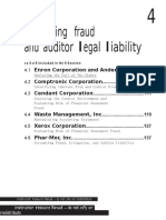 Section 4 Accounting Fraud and Auditor Legal Liability -1