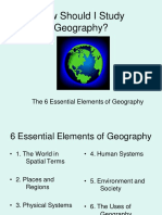 Six Essential Elements of Geography