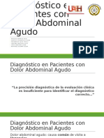 Diagnóstico en Pacientes Con Dolor Abdominal Agudo (1)