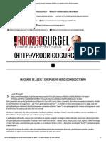 Rodrigo Gurgel _ Machado de Assis e o Repulsivo Herói Do Nosso Tempo