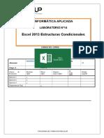 Lab 14 - Estructuras Condicionales