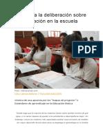 Aportes a La Deliberación Sobre La Evaluación en La Escuela