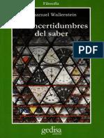 [Immanuel Wllerstein] Las incertidumbres del saber.pdf