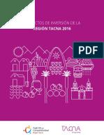 Proyectos de Inversión para la Región Tacna 2016