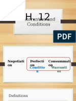 Ch. 12 Warranties and Conditions