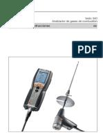 Testo 340 Medidor de Emisiones- Manual