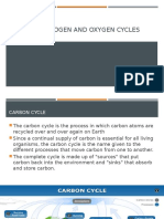Carbon, Nitrogen and Oxygen Cycles