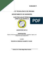 funcionamiento de las instrucciones aritméticas, lógicas y de comparación que maneja el PLC