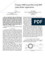 Development of Narrowband BPF Based on Split Ring Resonator for Weather Radar Application