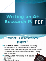 Writing an A+ Research Paper Week1