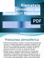 Elemetele Climatice Ale Republicii Moldova
