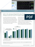0916 LEK 2015 Strategic Hospital Priorities Study Inflection Point Hospital Suppliers MedTechs