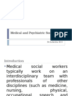 Medical and Psychiatric Social Work