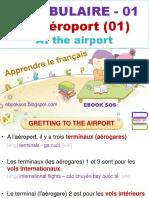 Vocabulaire Français - 01 - A l'Aéroport (01) - Gretting to the Airport