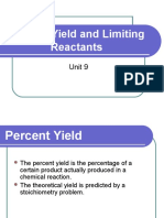 Percent Yield and Limiting Reactants.ppt