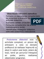 Proiectarea Eficientă a Activităților Didactice Și Tipuri de Lecții