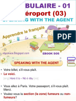Vocabulaire Français - 01 - A l'Aéroport (03) - Speaking With the Agent