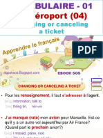 Vocabulaire Français - 01 - A l'Aéroport (04) - Changing or Canceling a Ticket