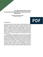 Requisitos Teorico-metdologicos Para El Estudio Geolinguistico