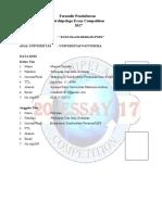 Formulir Pendaftaran AEC 2017