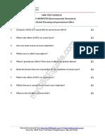 11 Chemistry Environmental Chemistry Test Paper 02