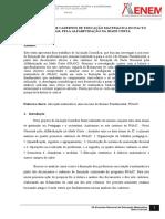 A Formação Nos Cadernos de Educação Matematica Do Pacto Nacional Pela Alfabetização Na Idade Certa