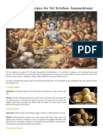 Sri Krishna Janmashtami Recipes