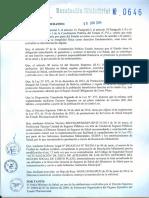 Resolucion Ministerial Nro 0646