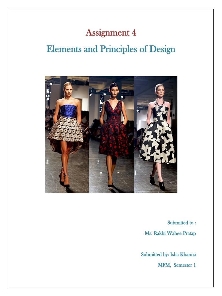 Elements And Principles Of Fashion Composition Visual Arts Fashion