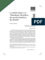 O jovem Marx e o 'Manisfesto histórico da escola do direito'.pdf