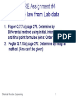 CRE-Assignment 4- Lab Data Analysis for Rate Laws