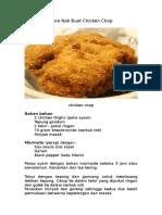 Cara Nak Buat Chicken Chop