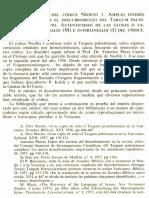 Neofiti 1 - Génesis - III El Contenido Del Códice Neofiti 1. Interés Del Targum Palestinense. Autenticidad de Las Glosas o Variantes