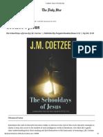 Coetzee's Jesus