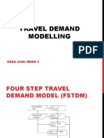 Lecture 2 - Travel Demand Modelling