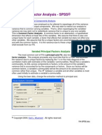 Factor Analysis - spss