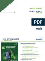 1st Quarter 2013 Financial Results