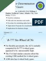 Alpha Factors for 6-Wheel Gears - WG 2005