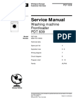 Whirlpool Polar Pdt 839 Service Manual