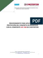 Procedimiento Para La Aplicacion y Protección Del Concreto en Manholes Con El Composite Arc 988 de Chesterton