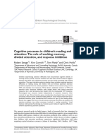 Cognitive Processes in Children's Reading And