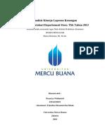 Analisis Rasio Laporan Keuangan