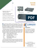10 BaseT Micro Fiber Optic Media Converter datasheet