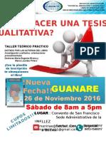 Aviso Taller Tesis Cualitativa Guanare