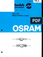 Osram HCI Halos Metal Halide Lamps Catalog 1975