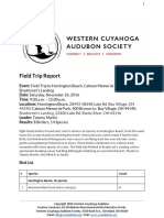 Field Trip to Huntington Beach, Cahoon Memorial Park and Bradstreet's Landing Saturday, November 26, 2016 Report