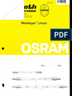 Osram HMI Metallogen Lamp Catalog 1977